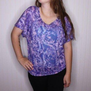 Maurices Short Sleeve Floral Blouse